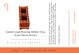 Limult Load Bearing Hollow Clay Ware Burnt Bricks